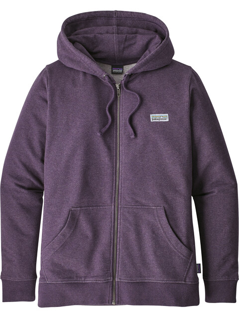 Patagonia W's Pastel P-6 Label Midweight Full-Zip Hoody Piton Purple
